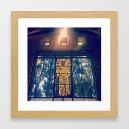 #284 Our Father / Stained Glass Framed Art Print