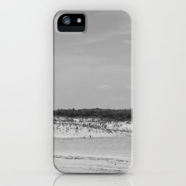 Assateague Island panoramic (black and white) iPhone Case