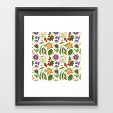 TEA PATTERN Framed Art Print