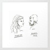 actor Art Prints featuring actor portrait by Hello Sunwoo