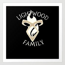 family lightwood Art Print