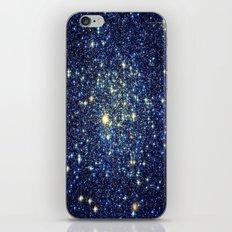 galaxY Stars : Midnight Blue & Gold iPhone & iPod Skin