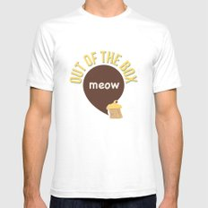 Meow out of the box Mens Fitted Tee White SMALL