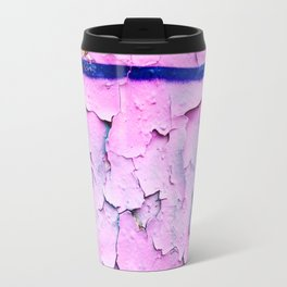 Texture Pink Metal Travel Mug