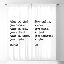 What You Think You Become, Buddha, Motivational Quote Blackout Curtain