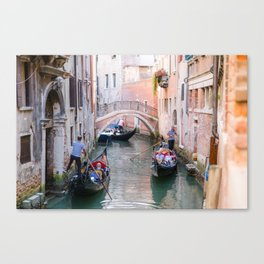 Exploring Venice by Gondola Canvas Print