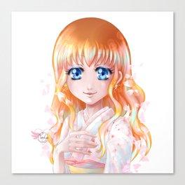 Hana floraison Canvas Print