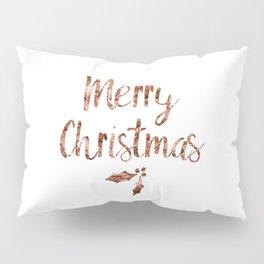 Rose gold Christmas Pillow Sham
