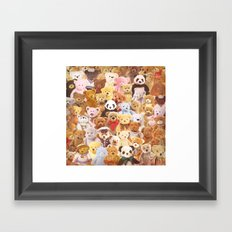 Teddy bears Framed Art Print
