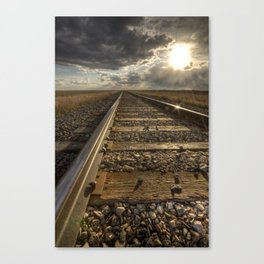 On the Rails Canvas Print