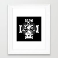 nurse Framed Art Prints featuring Nurse by Trine Paulsen