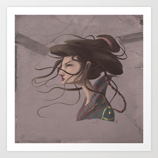 Gueixa #2 Art Print