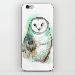 Owl Watercolor painting iPhone Skin