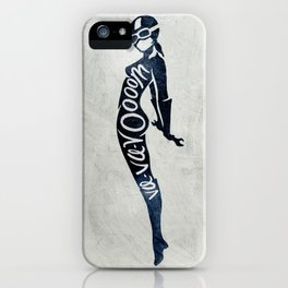 "Va-Va-Voom ""Lucy"" Motorcycle Pin Up Girl iPhone Case"