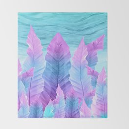 Underwater Leaves Vibes #1 #decor #art #society6 Throw Blanket