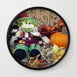 Little Miss Scarecrow Wall Clock