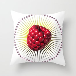 raspberry, sweet and sexy fruit with aureole Throw Pillow