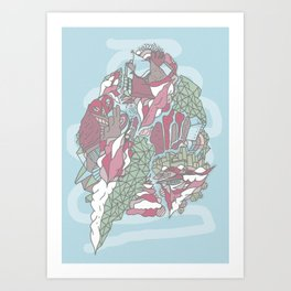 Dream Town Art Print