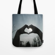 Hand Silhouette Tote Bag