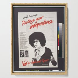 Vintage Poster - Declare Your Independence: Vote for Hall and Tyner (1976) Serving Tray