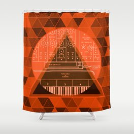 CIRCLE OF KEYS Shower Curtain