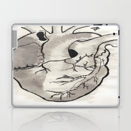 Heart in black and white Laptop & iPad Skin