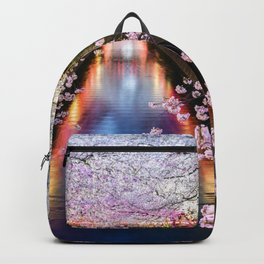 Cherry Blossom in pink   Japan Nakameguro River Backpack