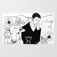 taurus Area & Throw Rugs featuring Taurus by Cassandra Jean