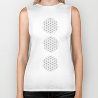 flower of life Biker Tanks featuring Flower of life illustration by Lewys Williams