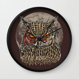 Zombie Owl Wall Clock