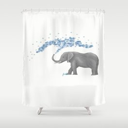 Eli the elefant Shower Curtain