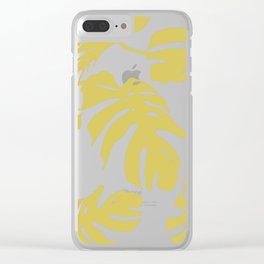 Simply Mod Yellow Palm Leaves Clear iPhone Case