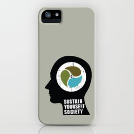 sustain yourself society iPhone Case
