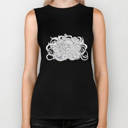 garmony floral tangled composition on the grey Biker Tank