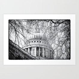 St Paul's Through the Trees Art Print
