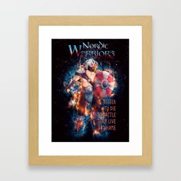 The Barbarian Color from Nordic Warriors Framed Art Print
