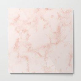 Marble Peach Blush Metal Print