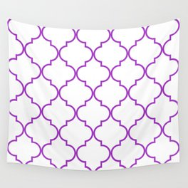 Quatrefoil - purple Wall Tapestry