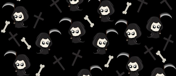 Cute Grim Reaper Pattern Coffee Mug