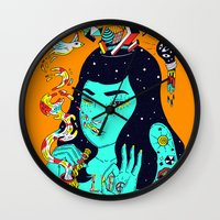 trip Wall Clocks featuring Trip by Jefowley