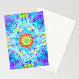 Blue Star Hippie Mandala Pattern Stationery Cards