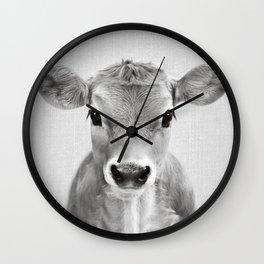 Calf - Black & White Wall Clock