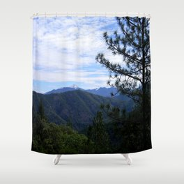 View of Bully Schoop with snow Shower Curtain