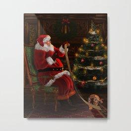 Santas List Metal Print