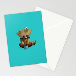 Rocket and Groot Stationery Cards