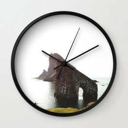 hiker at the faroe Wall Clock