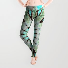 Tropical Floral Mandala Leggings