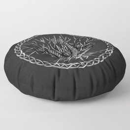 Ouroboros Celtic Knot with Tree of Life Floor Pillow