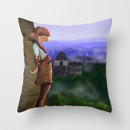 Over the Ruins Throw Pillow