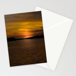 The sun goes down and night falls Stationery Cards